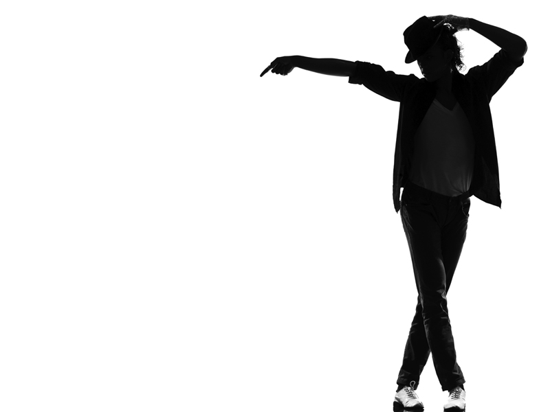 Silhouette of Micheal Jackson
