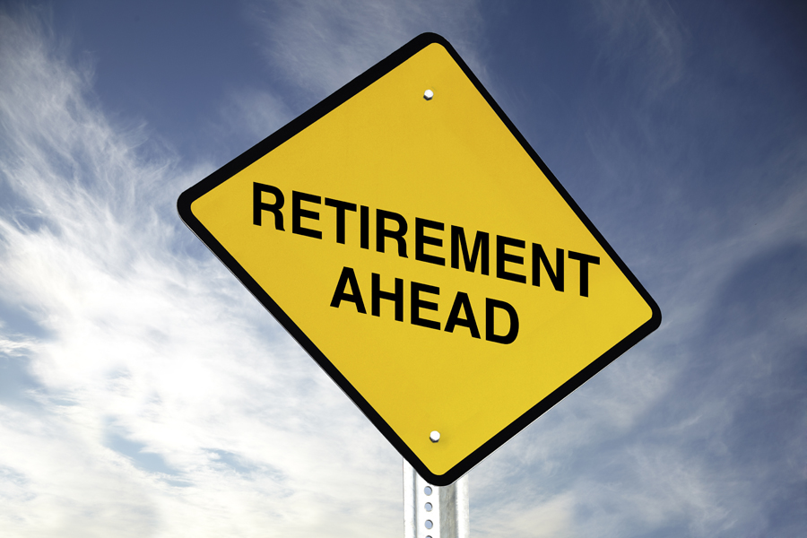 Yellow sign that says Retirement Ahead