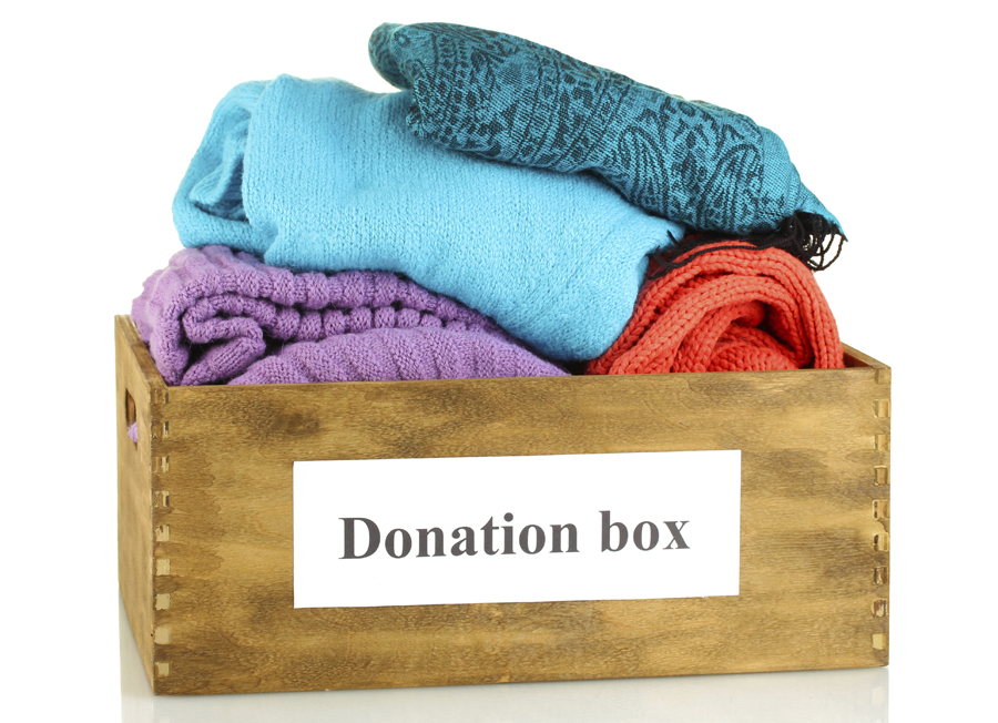 Donation Box full of sweaters