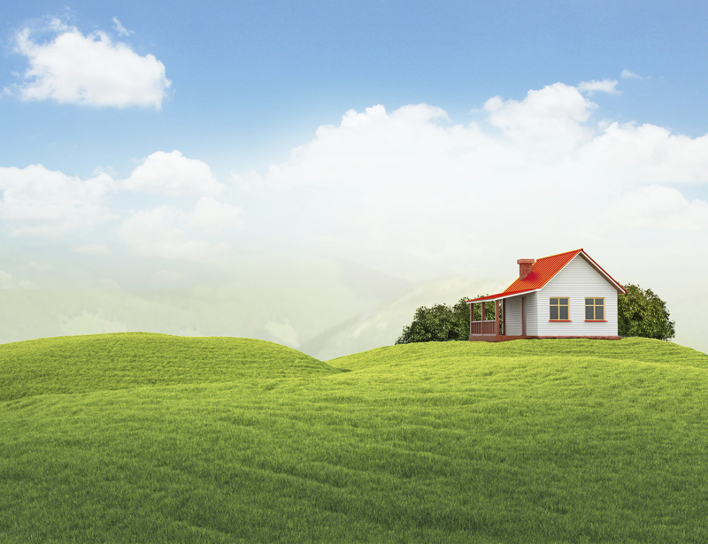 house on top of a green hill