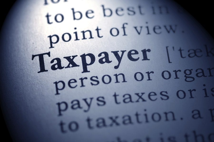 Dictionary with the focus on the word Taxpayer