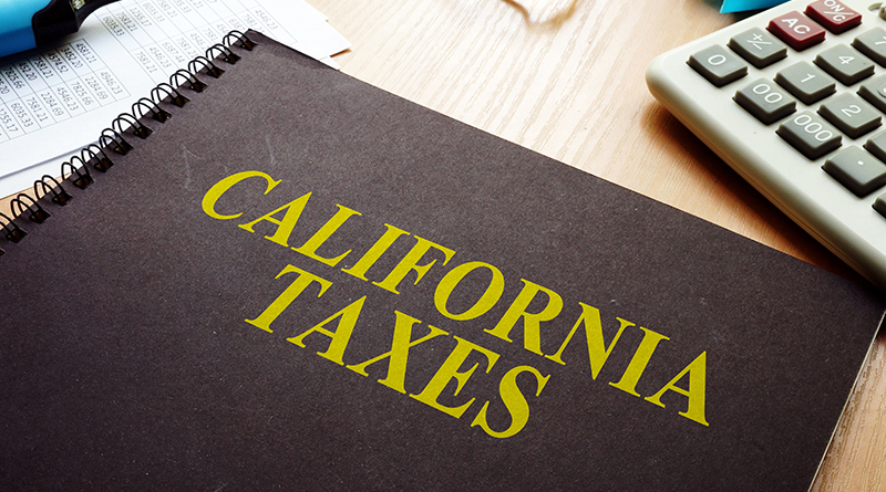 Book with California Taxes written on the cover