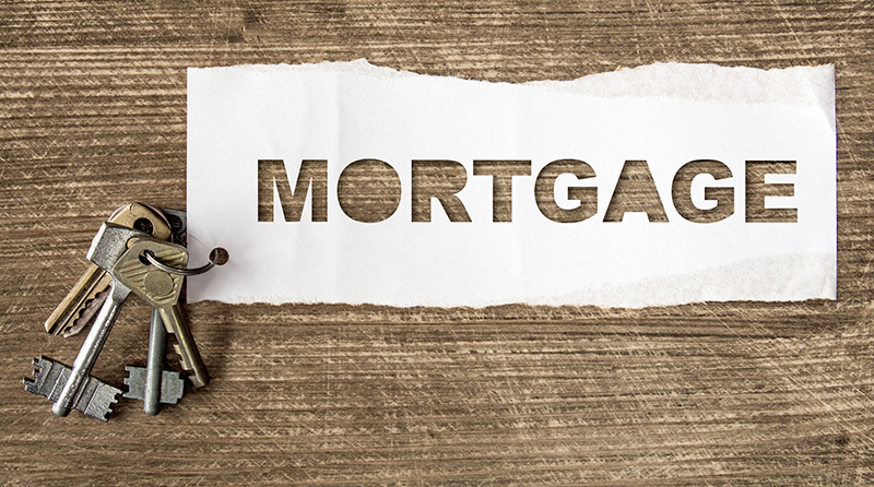 Mortgage sign and keys