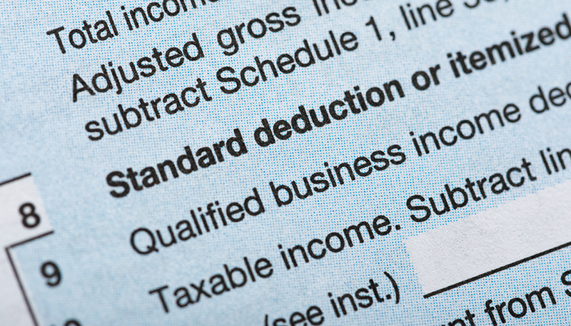 standard deduction or itemized deduction