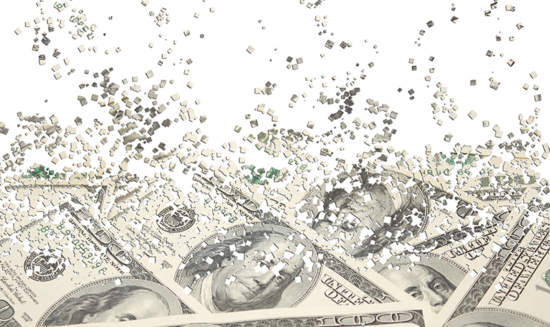 Money dissolving