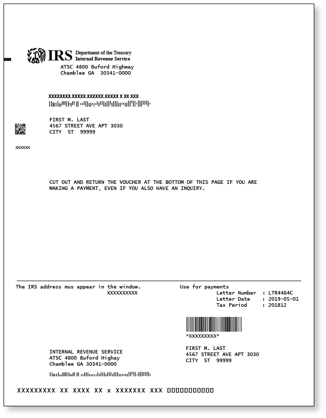 Irs Letter 4464c Sample 2