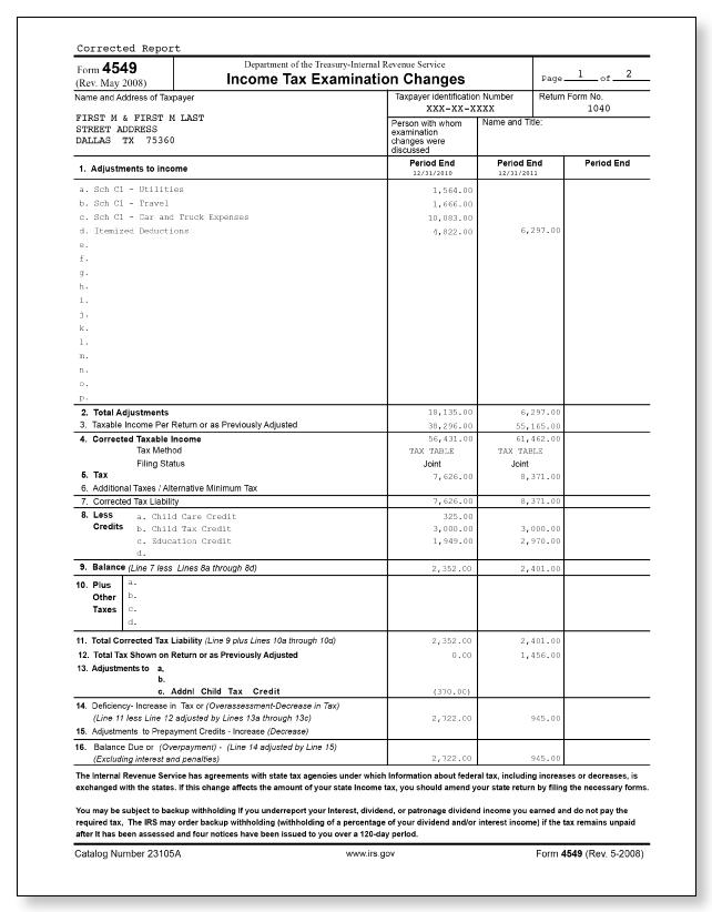 Irs Audit Letter 692 Sample 1