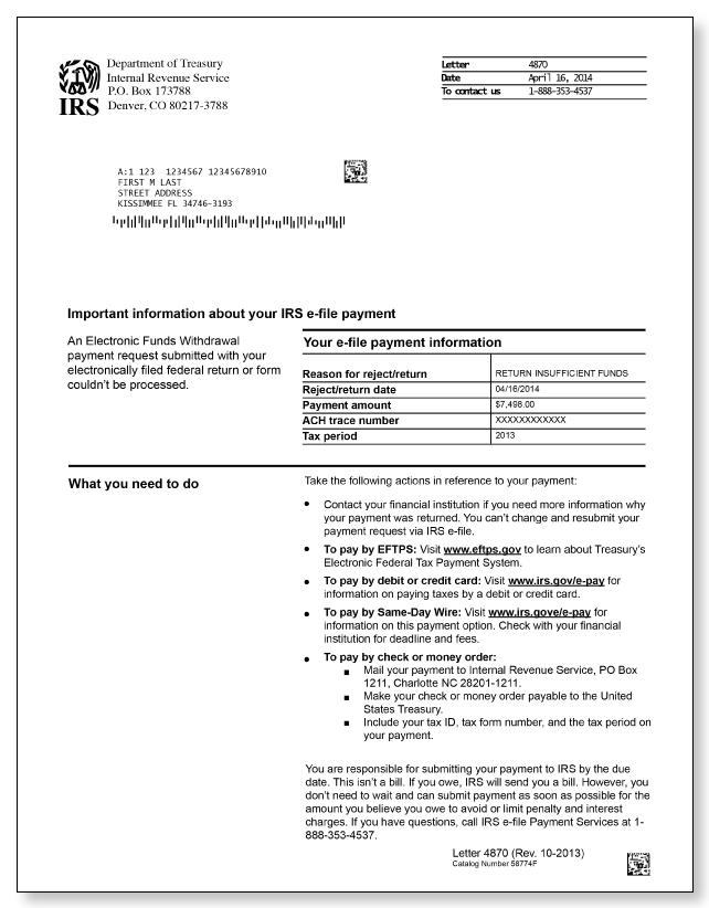 Irs Audit Letter 4870 Sample 1