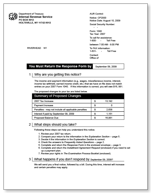 irs audit letter cp2000  u2013 sample 7