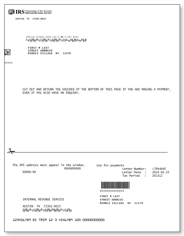 irs audit letter 4464c – sample 1
