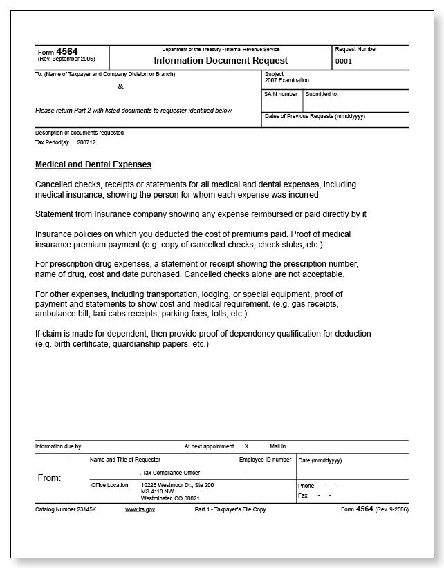 Irs Audit Letter 3572 Sample 3