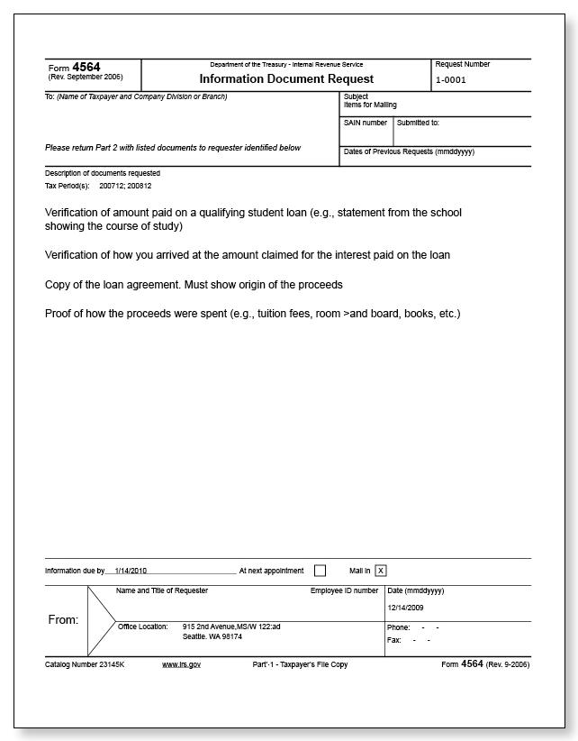 Irs Audit Letter 2202 B Sample 1