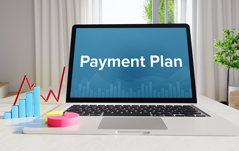 Payment Plan displayed on Computer Screen