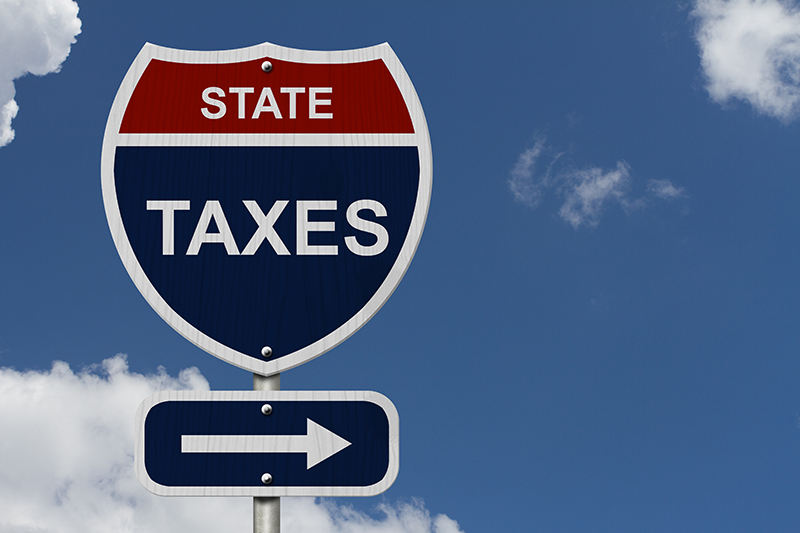 State Taxes Sign